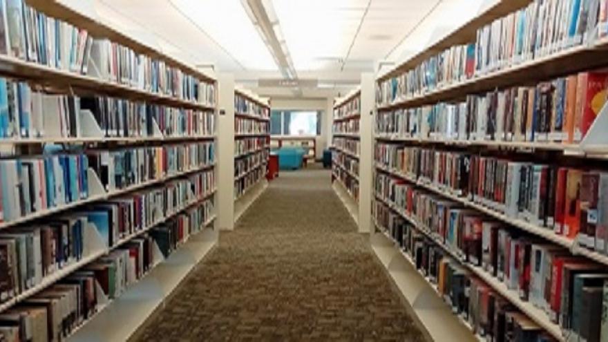 Estanterías de libros de una biblioteca