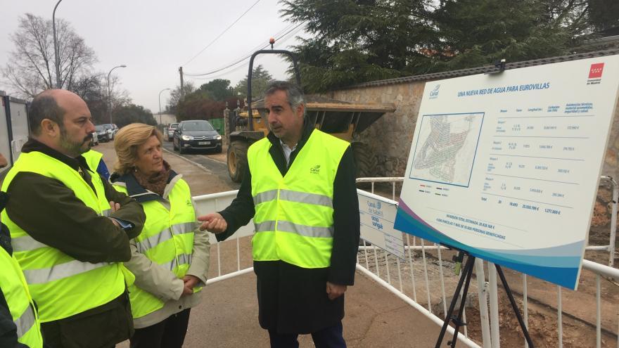 La Comunidad de Madrid inicia las obras de la nueva red de abastecimiento de agua potable en Eurovillas