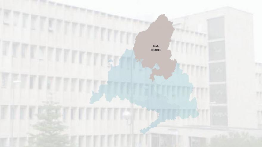 imagen de un edificio con el mapa de la DA Norte superpuesto