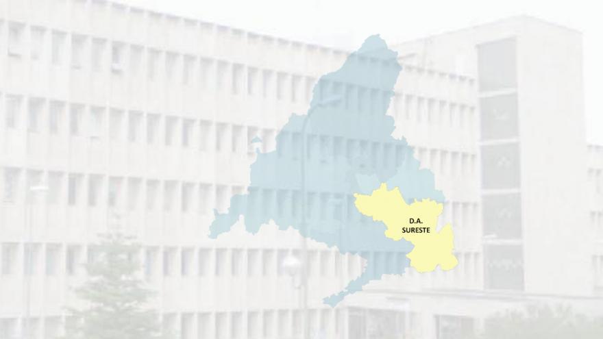 imagen de un edificio con el mapa de la DA Sureste superpuesto