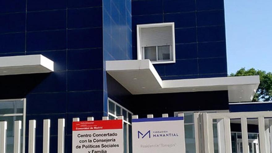Fachada de la Residencia (MR) Torrejón para personas con enfermedad mental