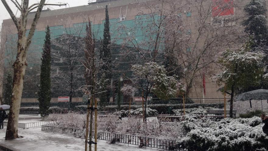 Edificio Santa Hortensia nevado