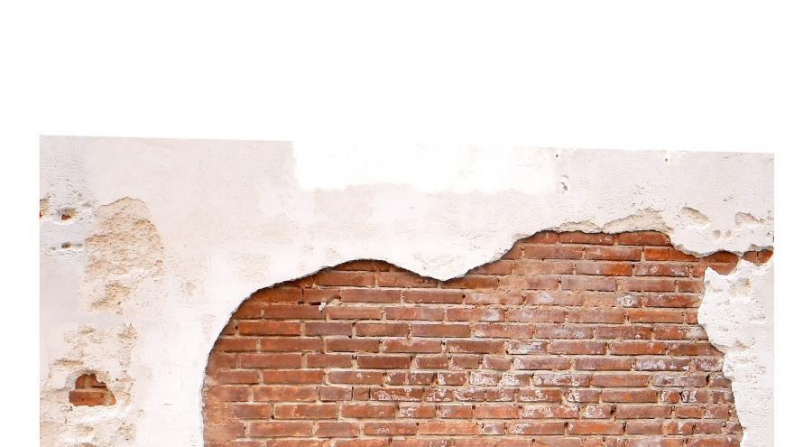 Imagen de pared desconchada