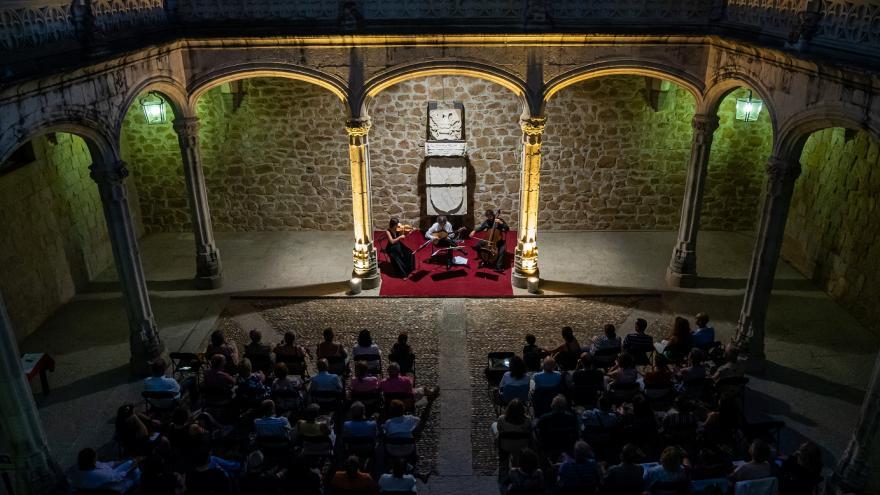 Imagen de concierto en el castillo de Manzanares El Real