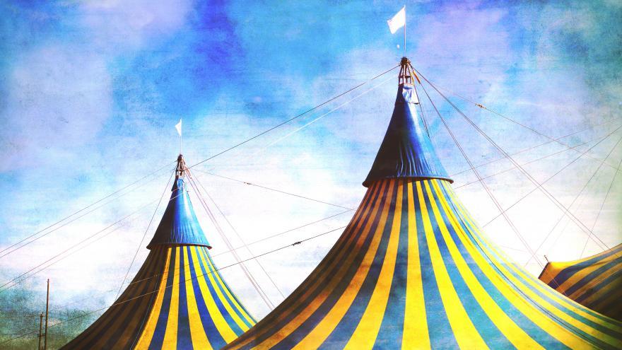 La carpa de un circo