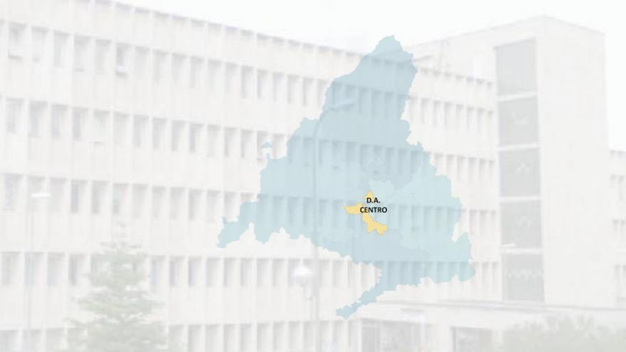 imagen de un edificio con el mapa de la DA Centro superpuesto