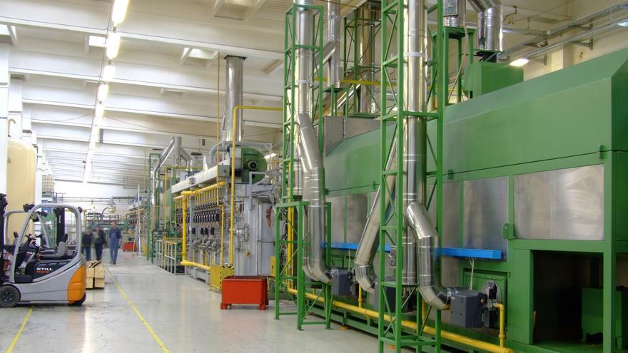 Imagen del interior de una fábrica