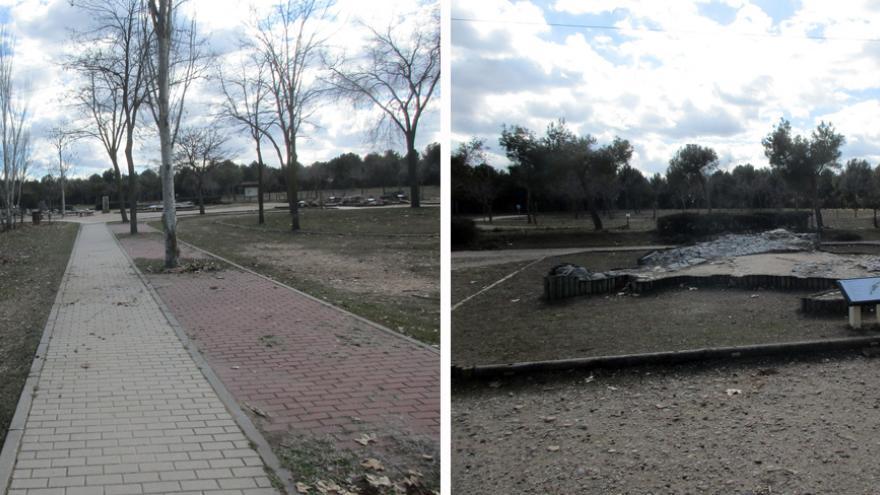 El Jardín de las rocas, área temática del Centro de educación ambiental Polvoranca