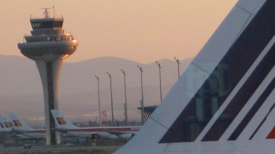 Aviones en las pistas de la Terminal 4 del Aeropuerto Adolfo Suárez Madrid-Barajas