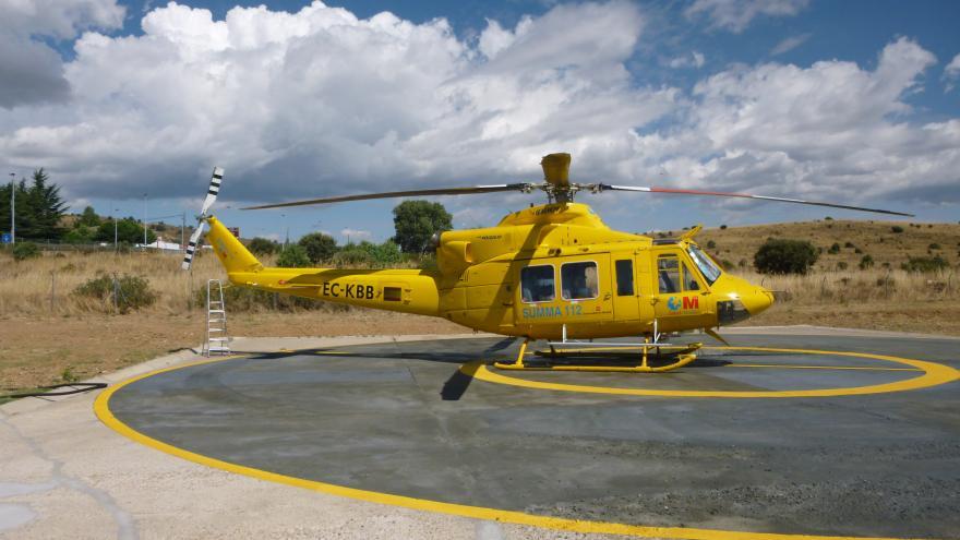 Helicoptero SUMMA Lozoyuela