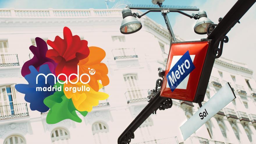 Mertro estación SOL y Logotipo MADO 2019