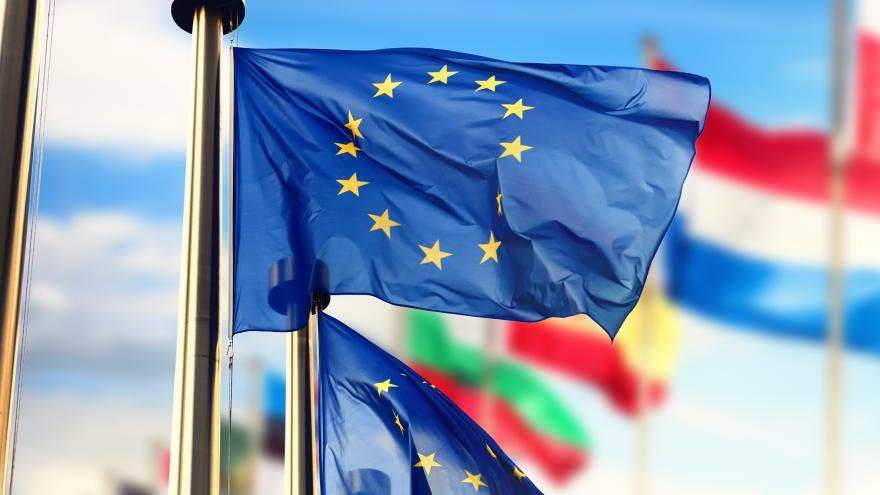 Bandera Europea Ondenado