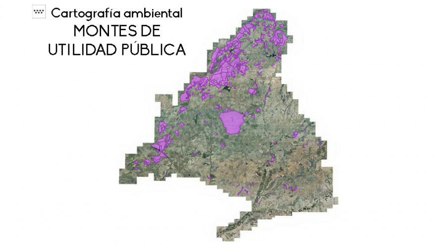 Mapa Montes Utilidad Pública