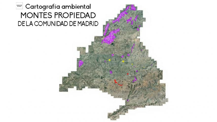 Mapa de Montes Propiedad de la Comunidad de Madrid