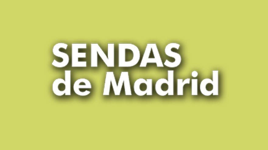 Texto Sendas de Madrid sobre fondo verde