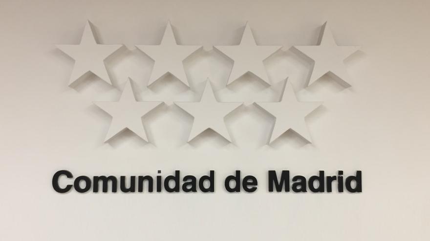 Bandera de la Comunidad de Madrid en blanco