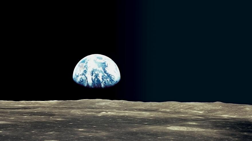 Imagen de la Tierra tomada desde la Luna