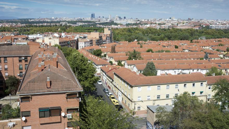 imagen aérea del barrio de Carabanchel