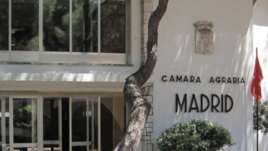 Fachada del edificio de la Cámara Agraria de la Comunidad de Madrid