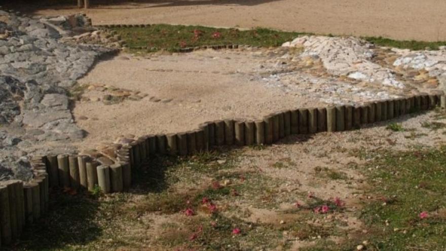 Jardín de rocas en Polvoranca