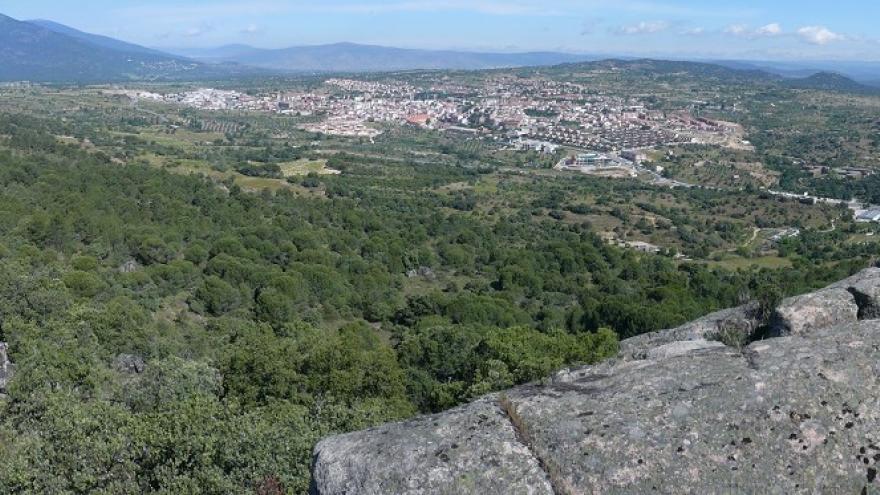 Vista panorámica del Canto del Guarro