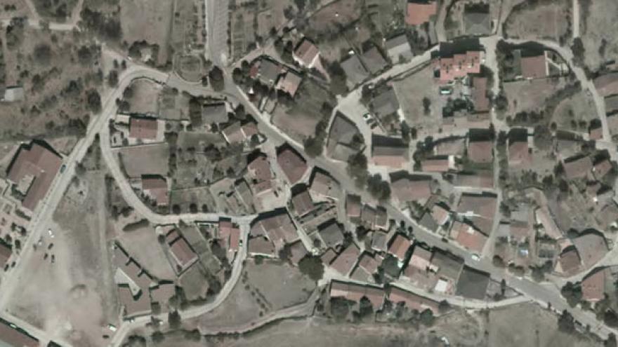 Vista aérea de Berzosa del Lozoya