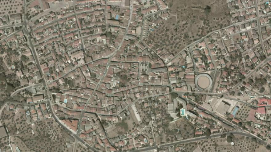 Vista aérea de Cadalso de los Vidrios