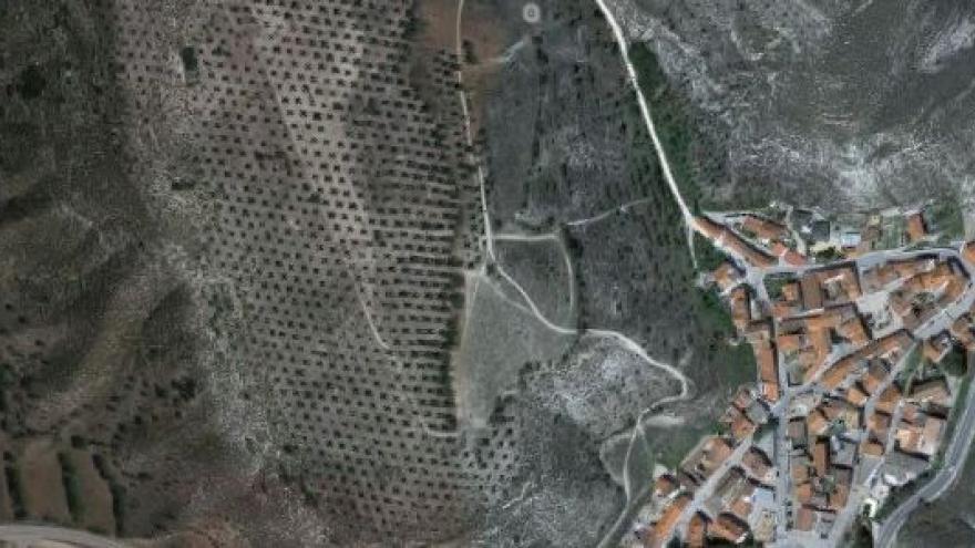 Vista aérea de valverde de alcala