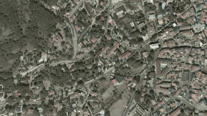 Vista aérea de Miraflores de la Sierra