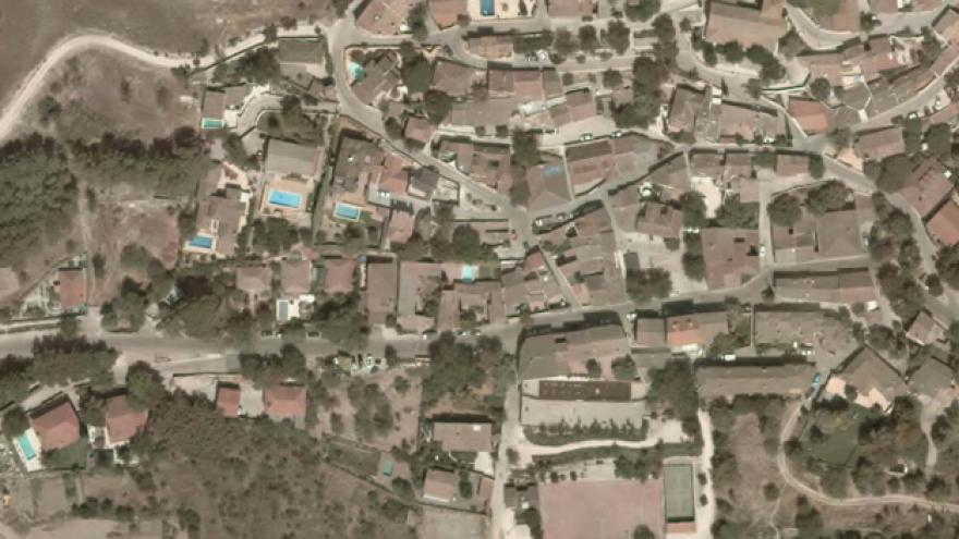 Vista aérea de Olmeda de las Fuentes