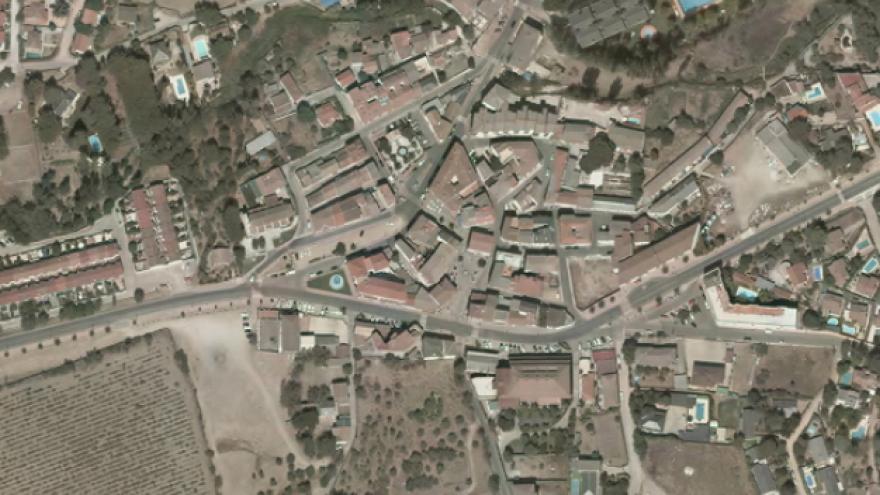 Vista aérea de Pelayos de la Presa