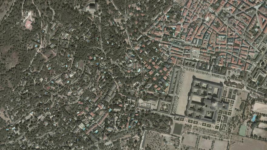 Vista aérea de San Lorenzo de El Escorial