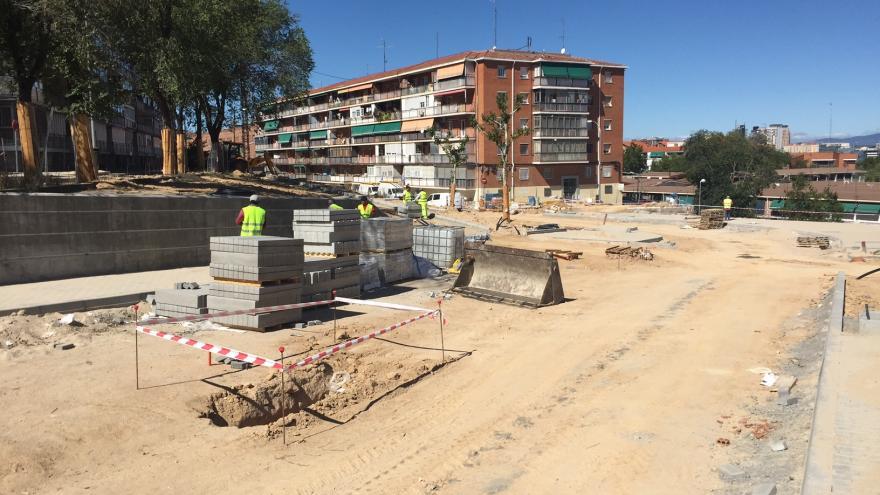 Construcción de viviendas sociales en la UVA de Hortaleza
