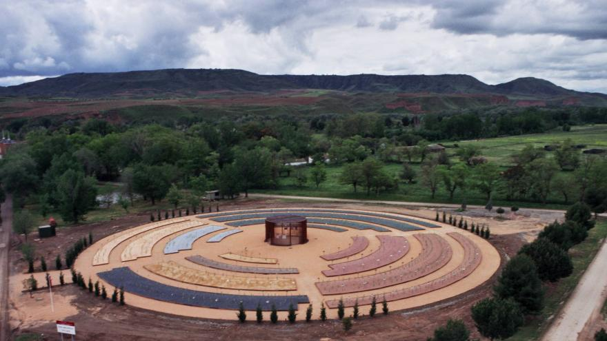 cultivos en terreno circular