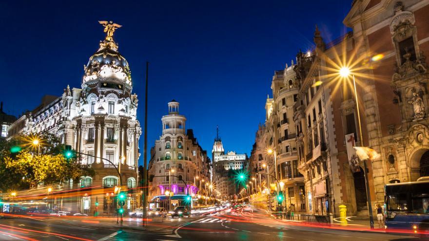 Una instantánea de Madrid en navidad