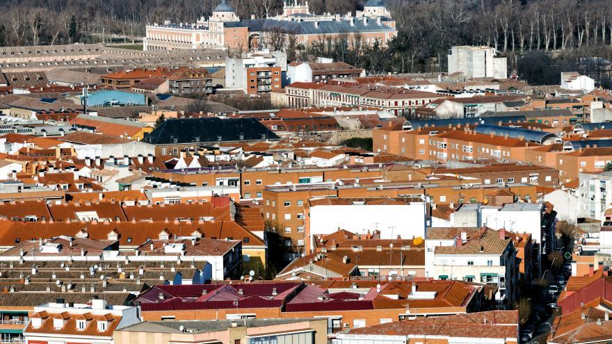 Imagen aérea de Aranjuez
