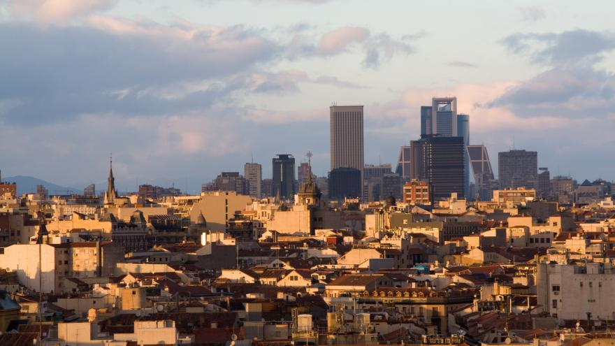 Imágen aérea de Madrid