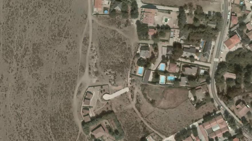 Vista aérea de Santa María de la Alameda