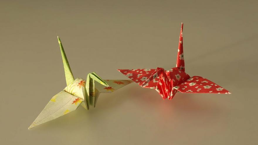 Imagen aves de papel
