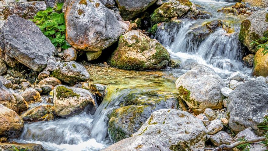 Arroyo cascada rocas