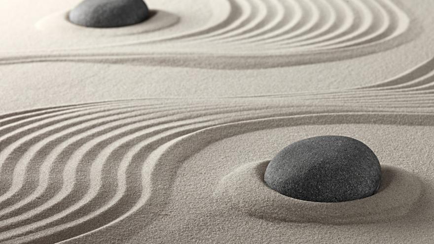 arena y piedra zen