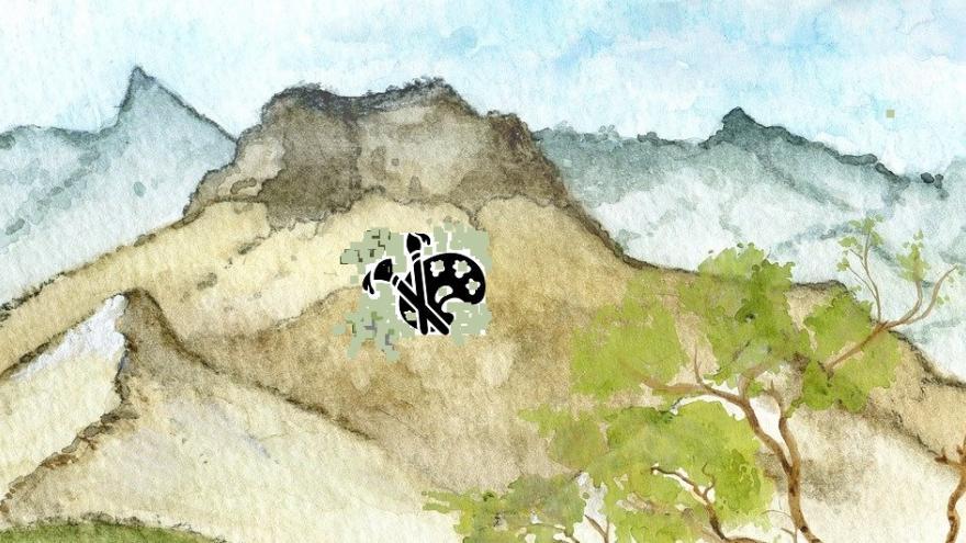 Montañas paleta pintura