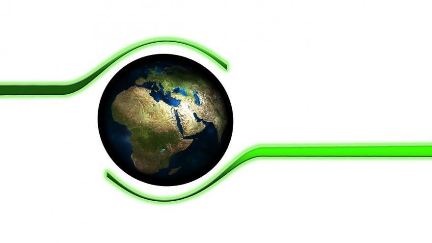Manos proteger planeta