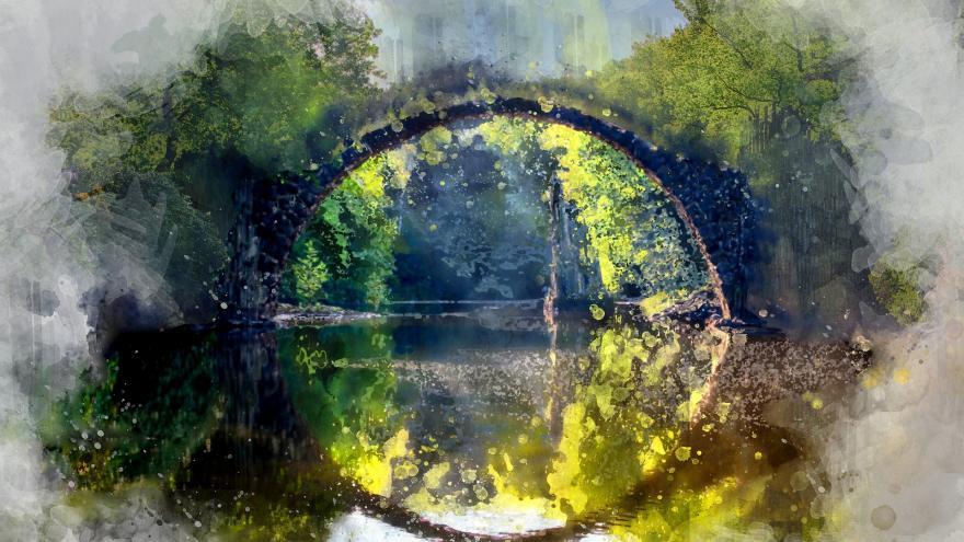 Reflejo de la naturaleza en el río
