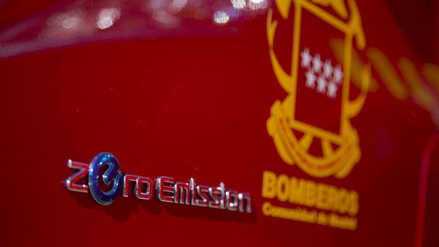 Detalle coche de bomberos