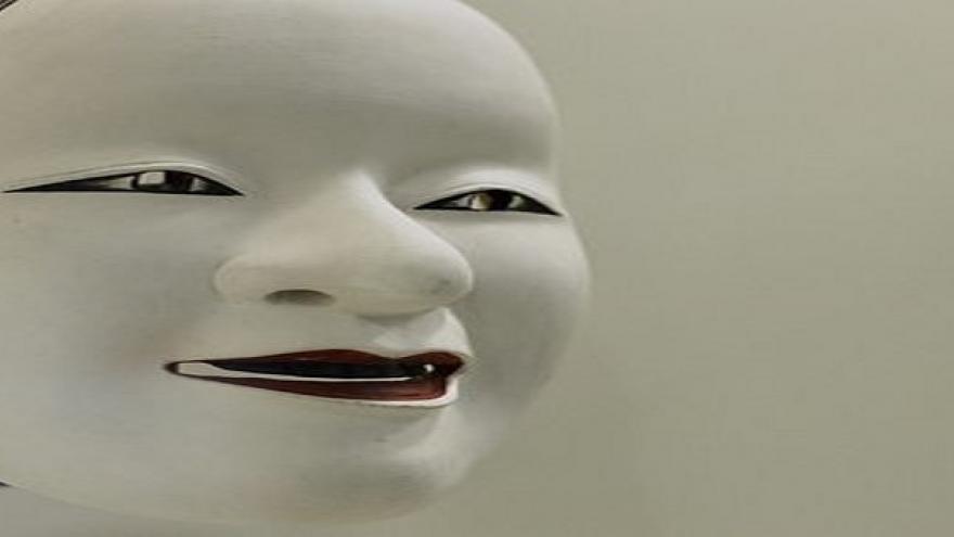 Máscara de Kabuki blanca