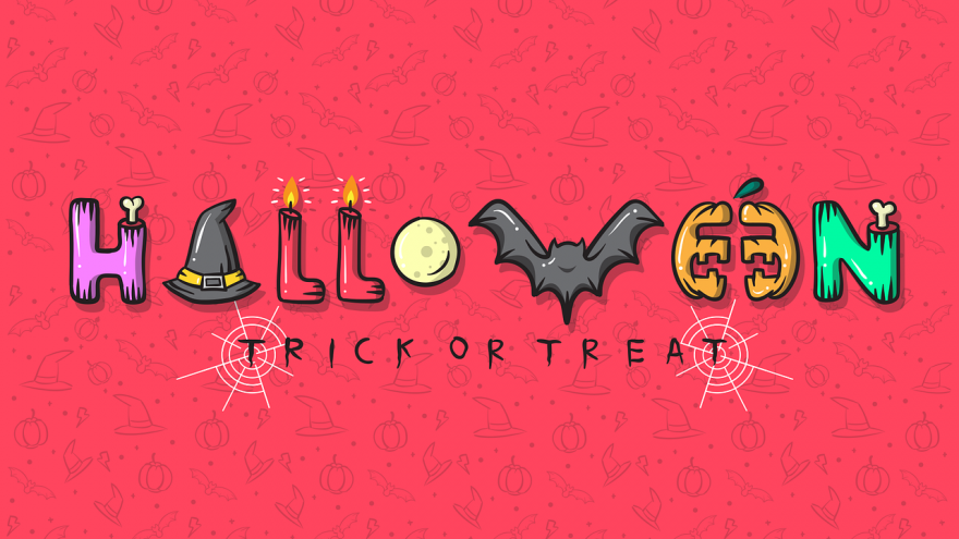 Halloween en dibujos con objetos
