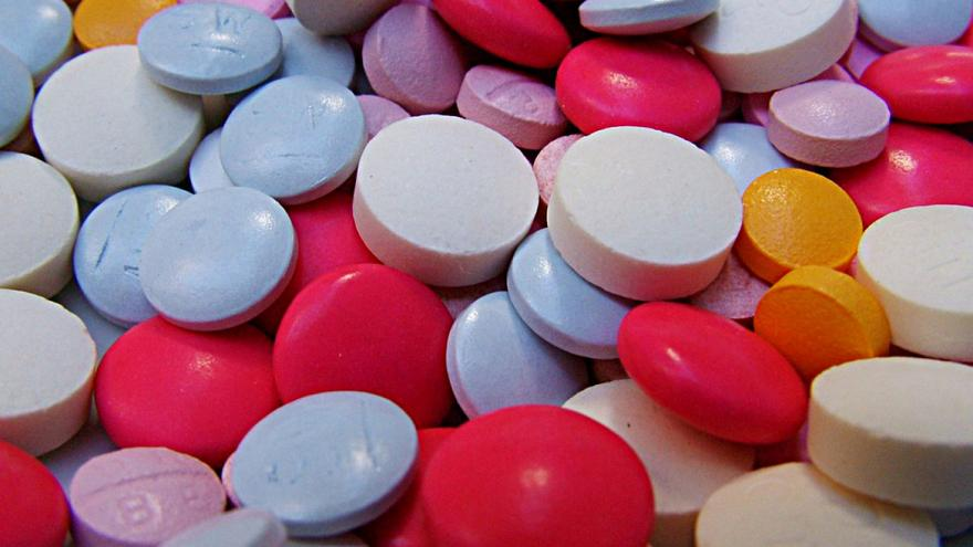 pastillas de distintos colores