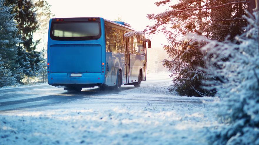 Autobús nieve