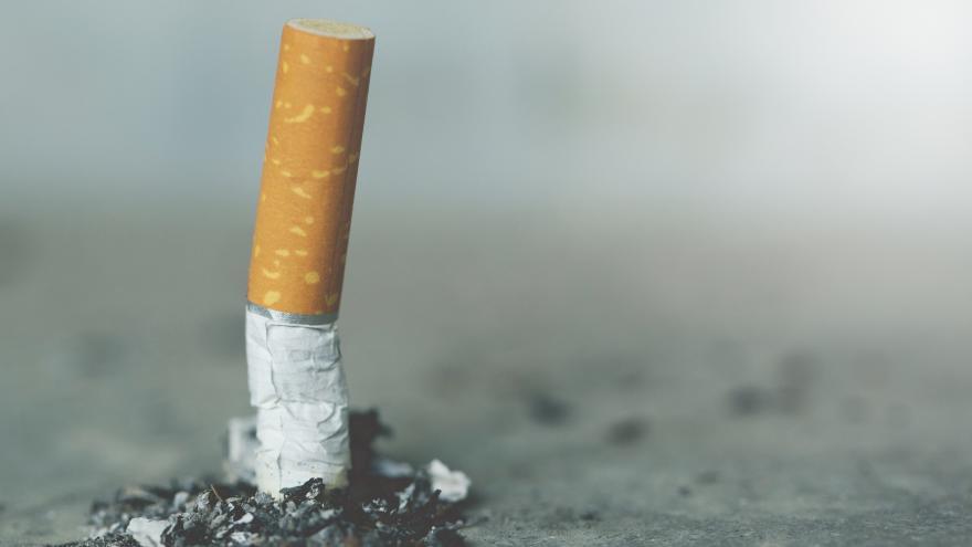 Un cigarro apagado